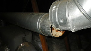 Furnace flue not connected in the attic!